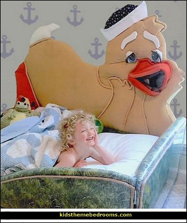 Duck Themed Bed  Nursery Rhyme bed for toddlers ducky animal themed beds duckie themed toddler bed duck shaped headboards duck shaped toddler beds