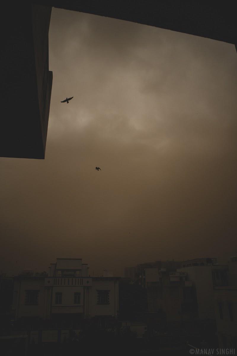 Sand Storm at Jaipur