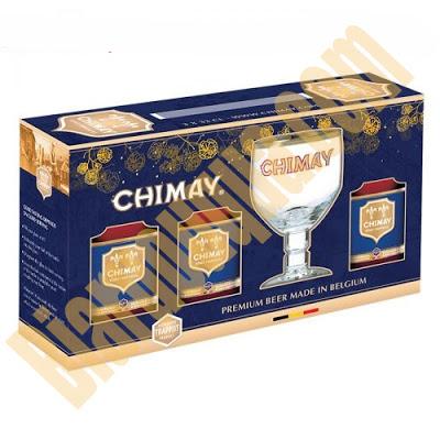 Hộp quà bia Chimay xanh 3 chai