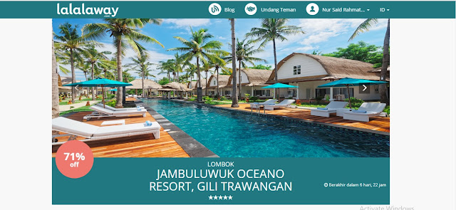 booking hotel murah jambuluwuk oceano resort, lombok