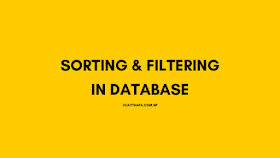 Sorting and Filtering data in Relational Databases