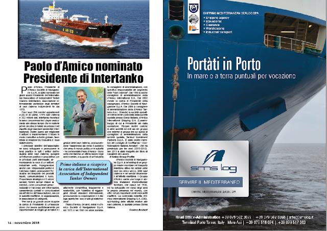 NOVEMBRE 2018 PAG. 16 - Paolo d'Amico nominato Presidente di Intertanko