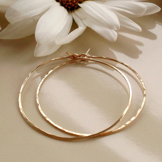 I Am Swooning Over My New Medium Gold Hoop Earrings From Pamela Curran Designs These 1 5 Inch 14k Filled Clic Hoops Feel As If Have Nothing On