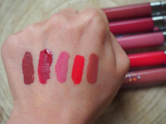 ceci est une photo des rouges à lèvre liquide à effet mat satin de la marque colourPop, ultra satin lip par clowy