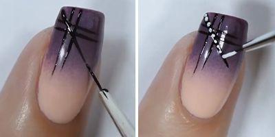 pintando a unha de esmalte nude