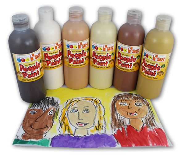 FAS People paint skin tone super tempera paint set