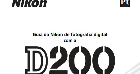 Loja da Fotografia: Manual Nikon D200 em português