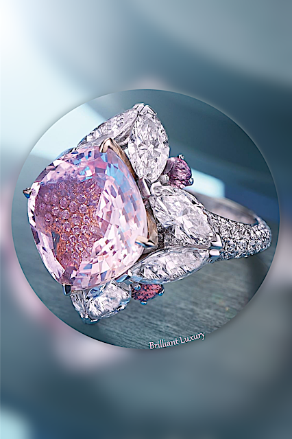 David Morris Padparadscha sapphire diamond ring #brilliantluxury