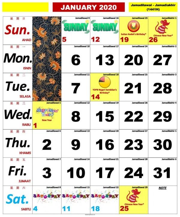kalender-kuda-2020 pdf Januari Februari Mac April Mei Jun Julai Ogos September Oktober November Disember