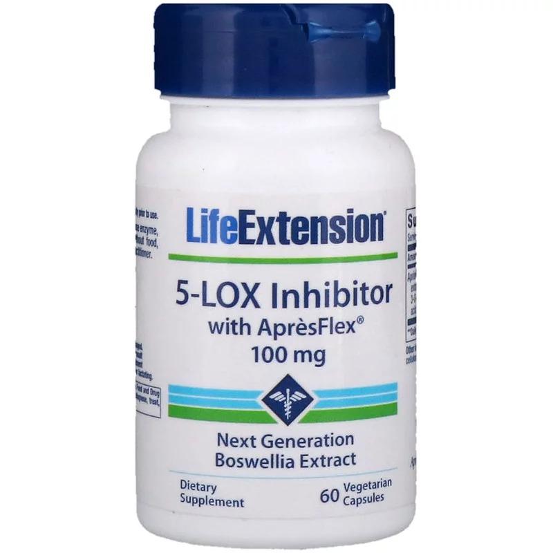 Life Extension, Ингибитор 5-Lox с ApresFlex, 100 мг, 60 вегетарианских капсул
