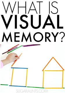 What is visual memory and how does problems with visual memory impact learning as a vision problem?