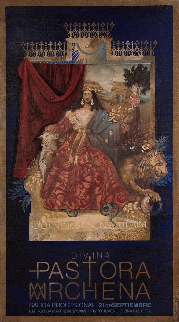 Cartel para la procesión de la Divina Pastora de Marchena
