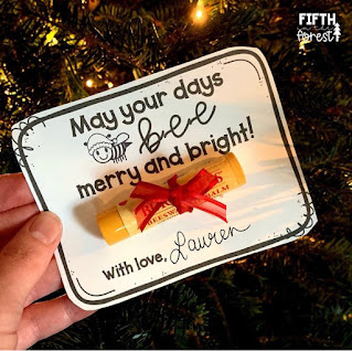 Image of Holiday Lip Balm Gifts Tags by Fifth in the Forest