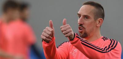 Bayern Munich player Franck Ribery