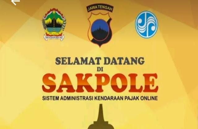 cara bayar pajak motor online di Jawa Tengah menggunakan aplikasi sakpole