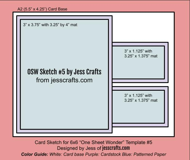 Card Sketch for One Sheet Wonder #5 by Jess Crafts