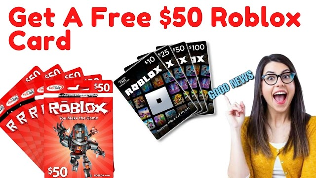 Get A  $50 free robux gift card code