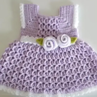 Vestido Primavera de Bebé a Crochet