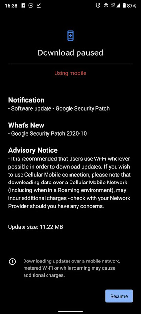 Nokia 5.3 receiving October 2020 Android Security patch