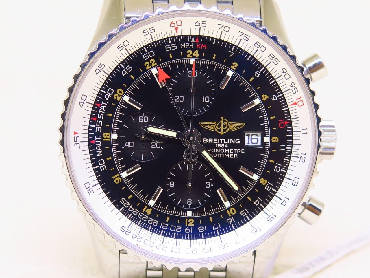 BREITLING NAVITIMER CHRONOMETRE CHRONOGRAPH GMT - AUTOMATIC - XL SIZE 46mm