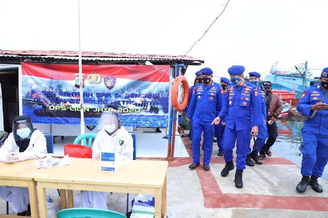 Jelang Tahun Baru, Dirpolair Korpolairud Baharkam Polri Cek Pengamanan Pelabuhan Penyebrangan