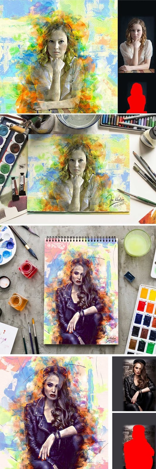 Watercolor Art Photoshop action 27320070 Download