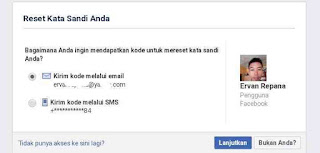 Reset kata sandi via alamat email