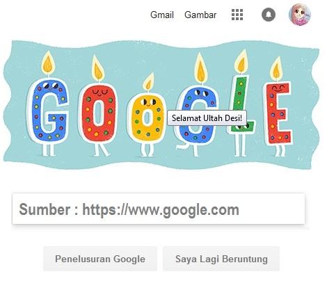 Selamat Ulang Tahun Dari Akun Google