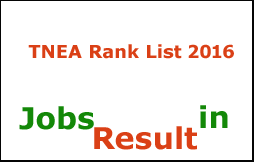 TNEA Rank List 2016