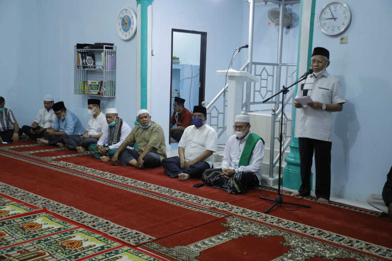 Safari Ramadhan Khusus di Masjid Al Majid, Bupati Asahan Minta BKM Pantau Jamaahnya Agar Tetap Terapkan Prokes