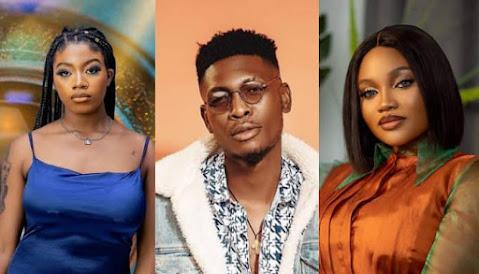 Big Brother Naija Shine Ya Eye housemate, Angel,Sammie & JMK