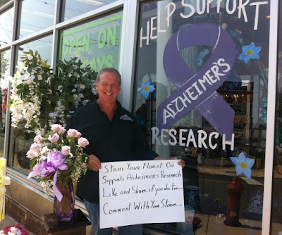 Stein Your Florist Co. supports Alzheimer's Disease Awareness and disease research.