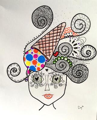 lola mento, ilustraciones lola mento, lola mento helado, lola mento color, cuadros decorativos, cuadros lola mento