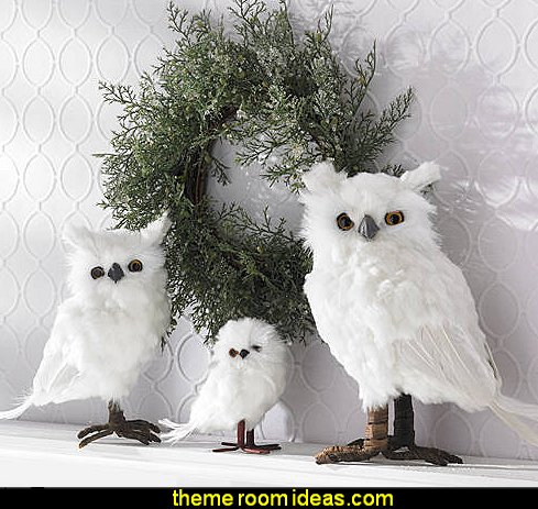 White Feather Owls  decorative snowflakes  Frozen Elsa Peel and Stick Giant Wall Decals    penguin bedrooms - polar bear bedrooms - arctic theme bedrooms - winter wonderland theme bedrooms - snow theme decorating ideas - penguin duvet covers - penguin bedding - winter wonderland party ideas - Christmas