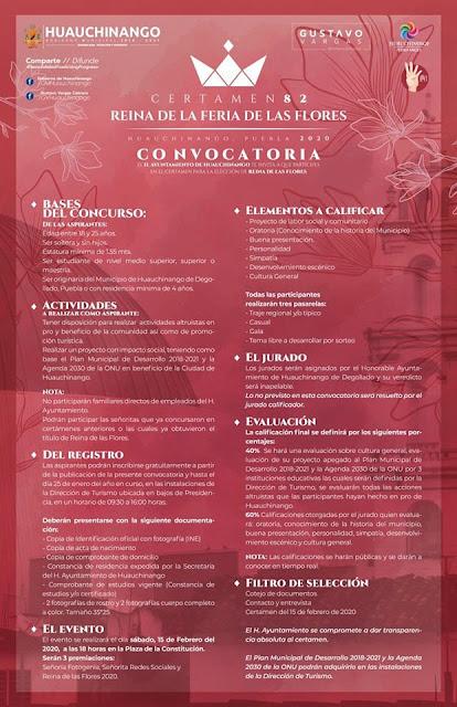 convocatoria reina feria de las flores huauchinango2 2020