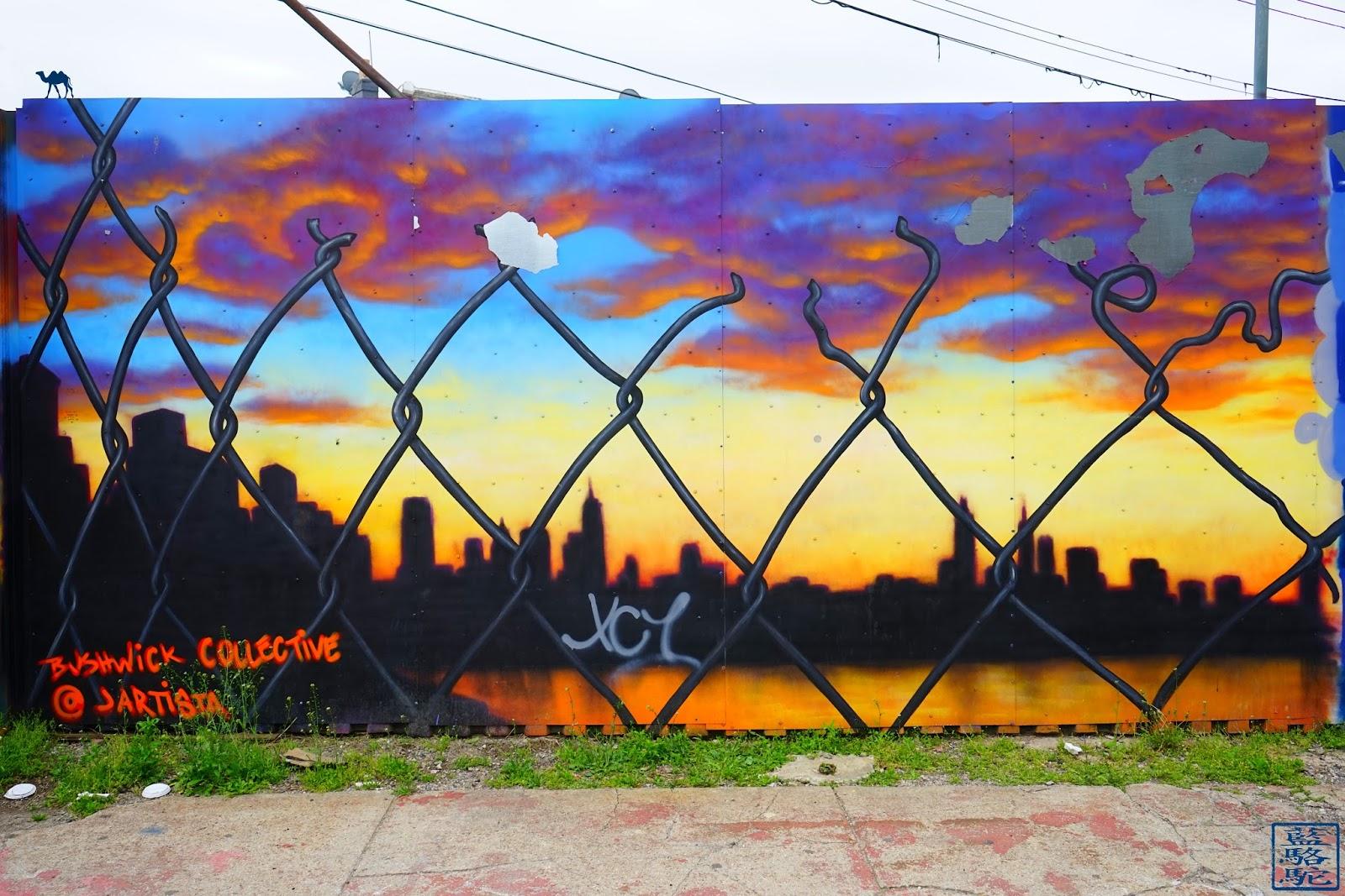 Le Chameau Bleu - Voyage à New York - Street Art Bushwick 2017 - balade à New York