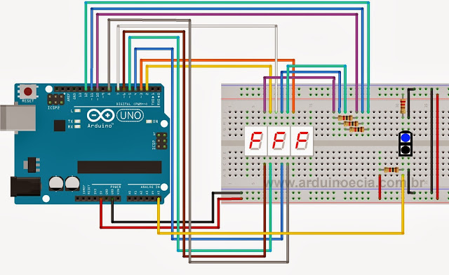 Circuito contador com sensor óptico