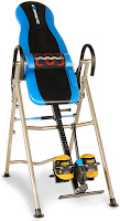 Exerpeutic 275SL Inversion Table (with heat/vibration massage lumbar support), features compared with Exerpeutic 225SL, with main difference being heat/massage lumbar support on 275SL compared to standard lumbar support on 225SL