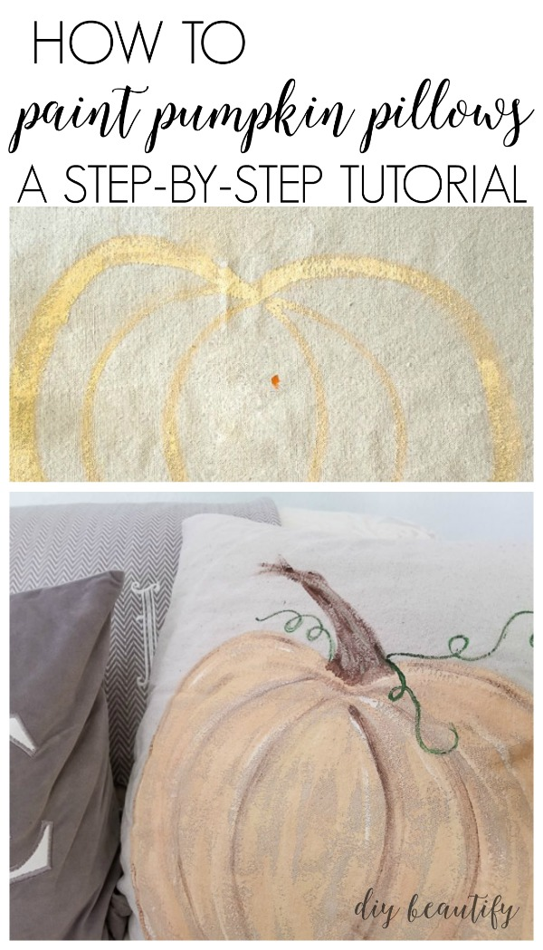 how to paint pumpkin pillows
