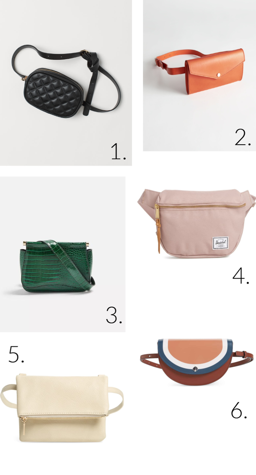 Wednesday Wishlist: Belt Bags (aka Fanny Packs) | Organized Mess