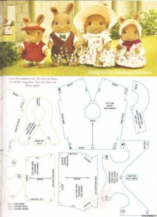 Выкройки для кукол Сильваниан