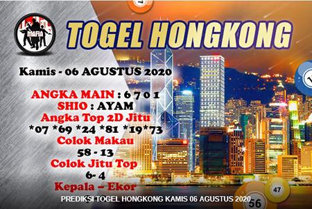 Mafia Prediksi Togel Hongkong HK Kamis 06 Agustus 2020