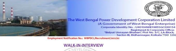 WBPDCL Recruitment 2021-Apply online West Bengal power development corporation Limited recruitment 2019