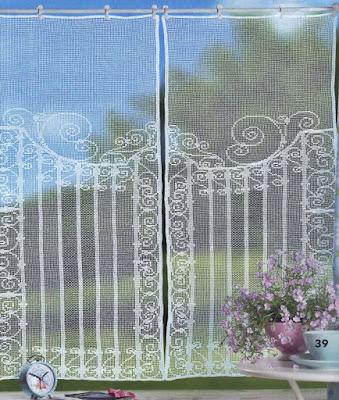 crochet curtains patterns