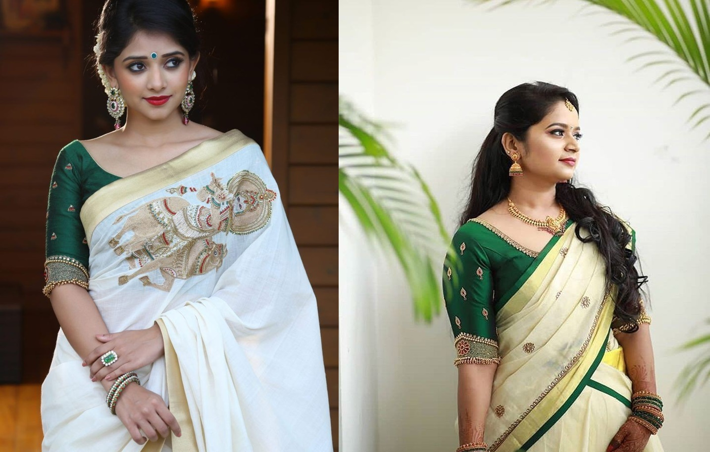 21 Trendy Green Kerala Saree Blouse Designs To Try In 2019 Bling Sparkle