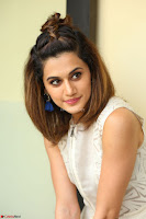 Taapsee Pannu in cream Sleeveless Kurti and Leggings at interview about Anando hma ~  Exclusive Celebrities Galleries 041.JPG