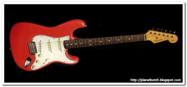 Early Fiesta Red Squier JV Stratocaster