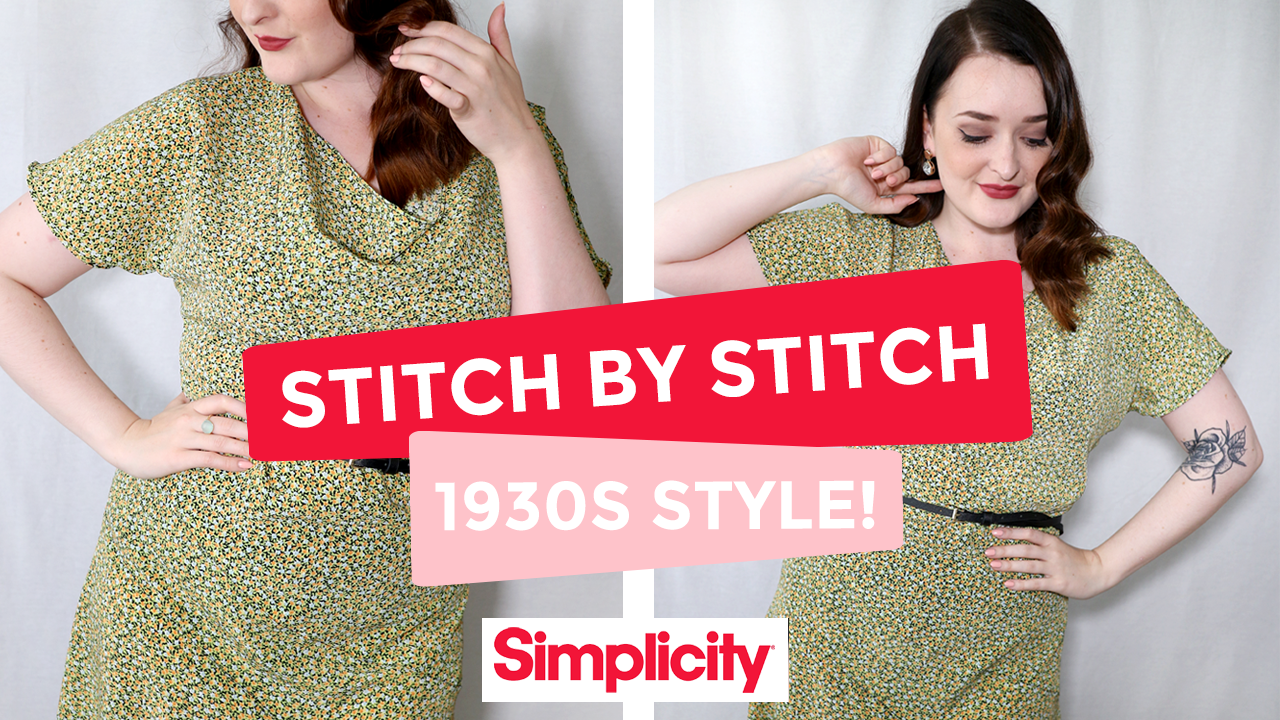Simplicity 8247 - Sewing the 1930s (eeek!) + Sew Along Video!