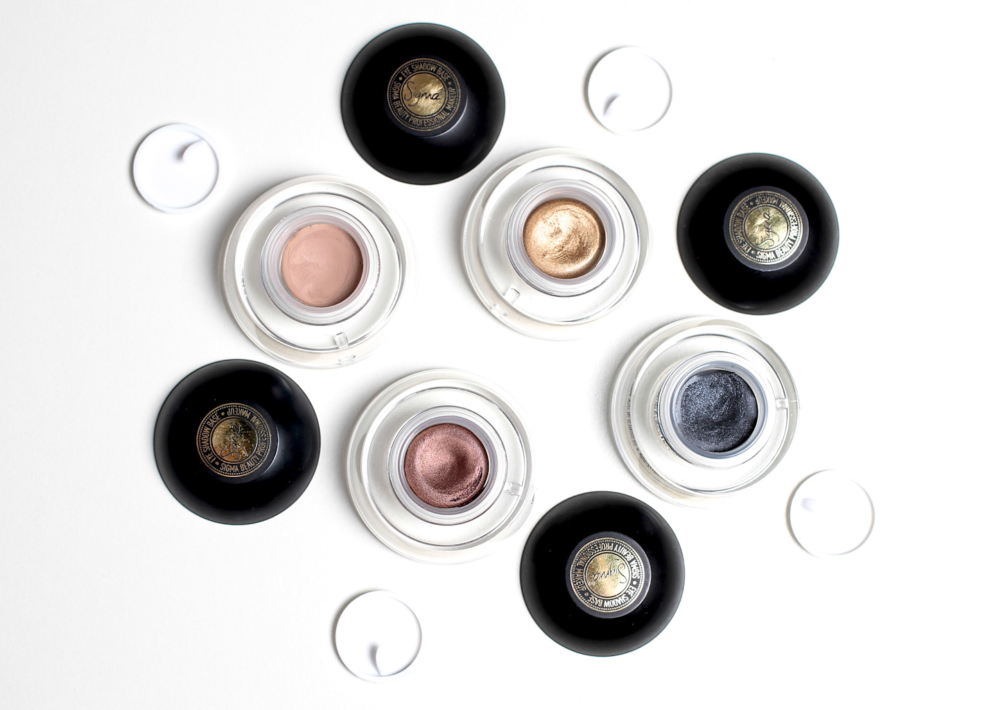 sigma eye shadow bases with lids off