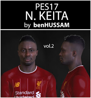 PES 2017 Faces Naby Keita by BenHussam